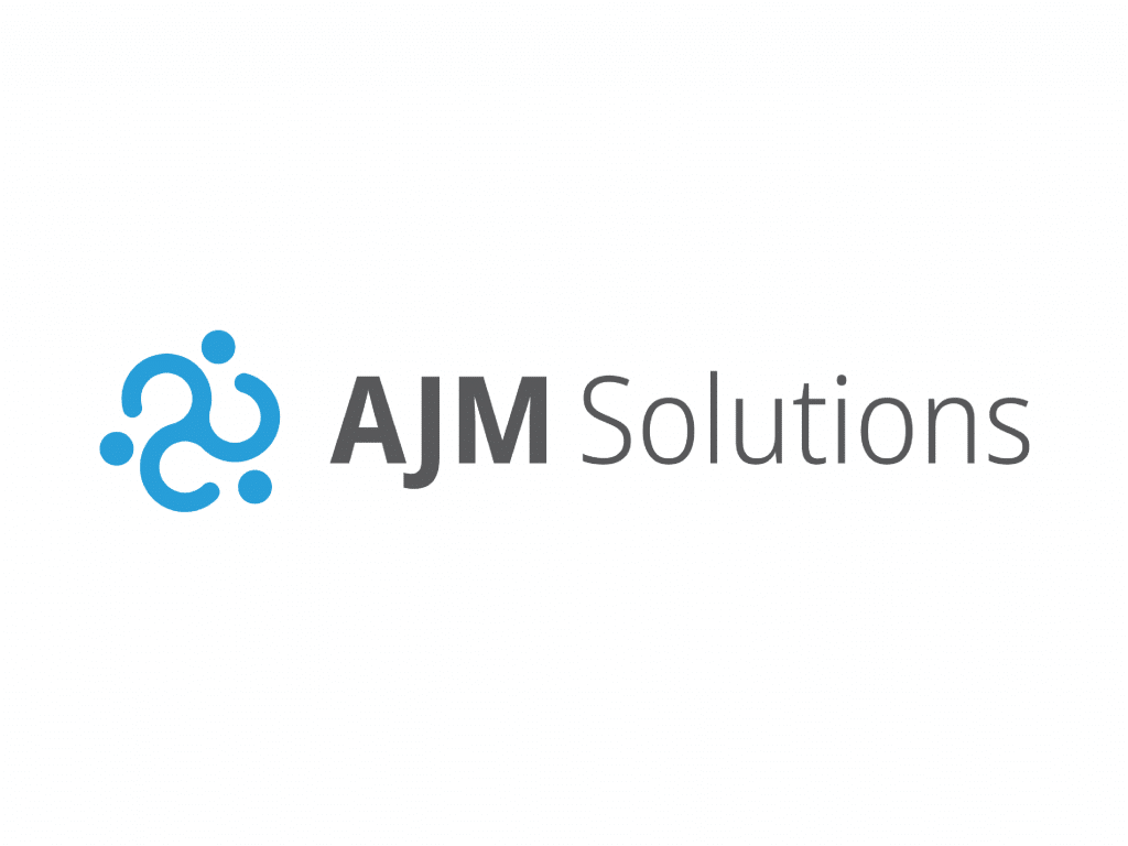 ajm solutions business card back