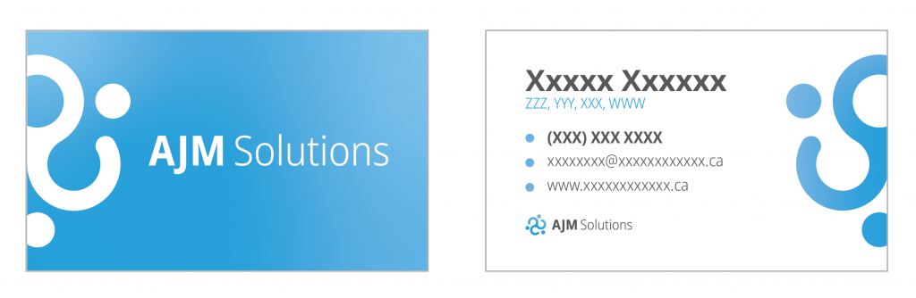 ajm solutions business card front