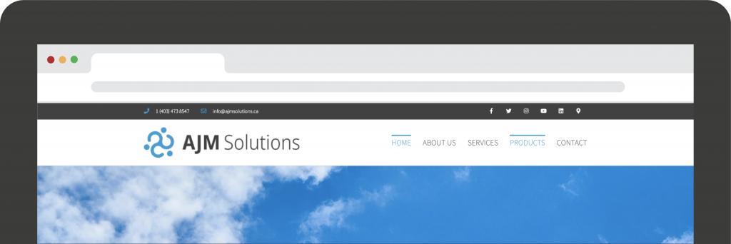 ajm solutions website container graphics